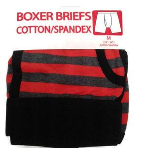 5/$25 Men's M 32 - 34 boxer briefs stripes spandex